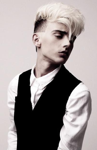 hair men white
