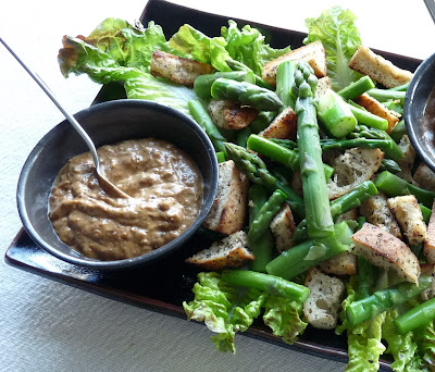 Asparagus Salad with Garlicky Dried Tomato Dressing