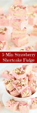 5-Minute Strawberry Shortcake Fudge