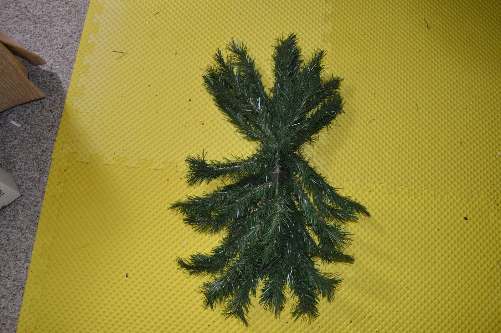 Sew Much To Give: Recycled Christmas Tree Branches into a Swag