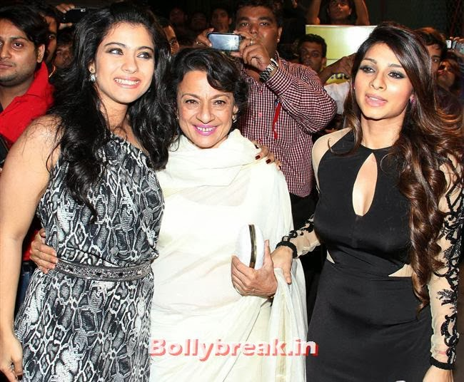 Kajol, Tanuja and Tanisha, Filmfare Awards 2014 Red carpet Images