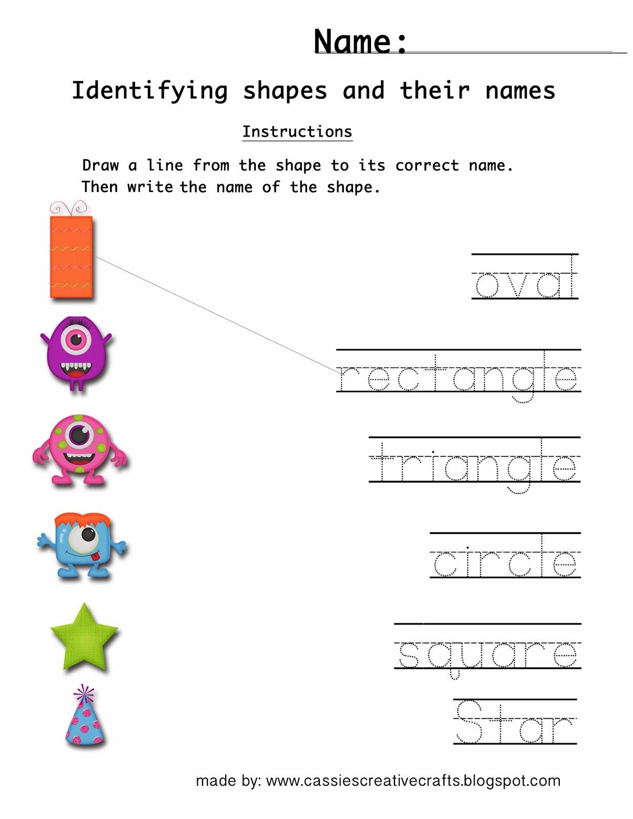 Cassie S Creative Crafts Free Kindergarten Worksheet