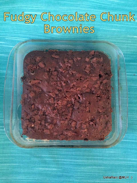 Chocolate Chunk Brownies From Scratch