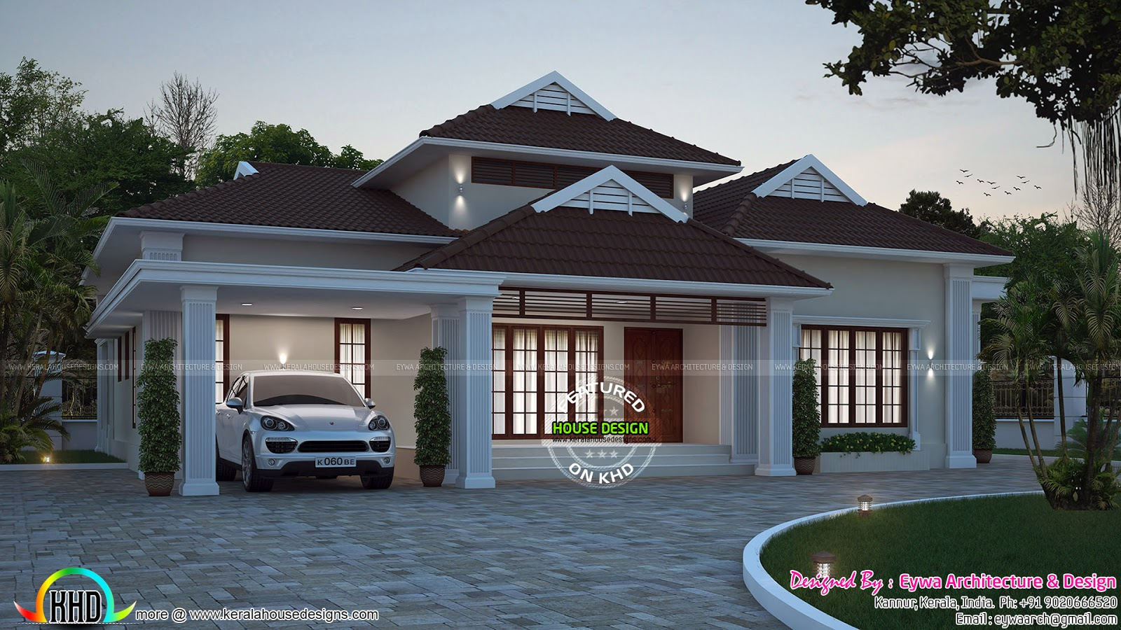 2248 sq ft 4 bedroom house plan in 2 different style for Different house designs