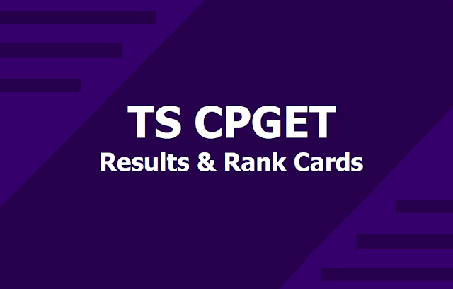TS CPGET Results and Rank Cards 2019 download from tscpget.com
