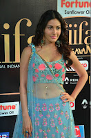 Amyra Dastur in Flower Print Choli Transparent Chunni at IIFA Utsavam Awards 21.JPG