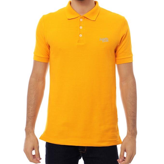 Kaos Kerah Polo Shirt Pria Premium Camaro Yellow