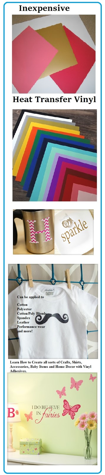 Affordable Crafts Ideas with Vinyl Transfers