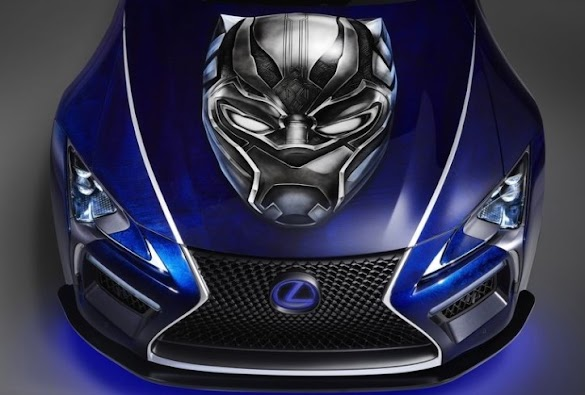 """Lexus LC500 Coupe Takes """"Black Panther"""" Movie Theme for 2017 SEMA Show"""