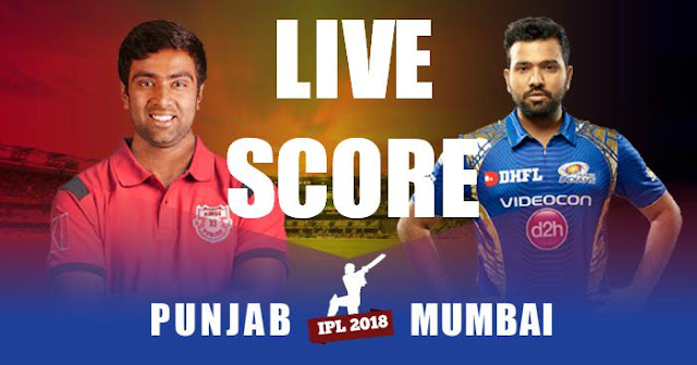 IPL 2018 Match 34 KXIP vs MI Live Score and Full Scorecard