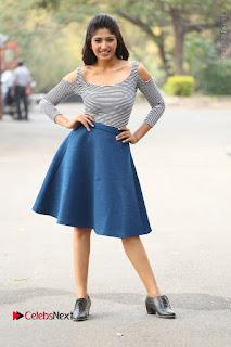 Telugu Actress Roshini Prakash Stills Short Dress at Saptagiri Express Release Press Meet  0258.JPG