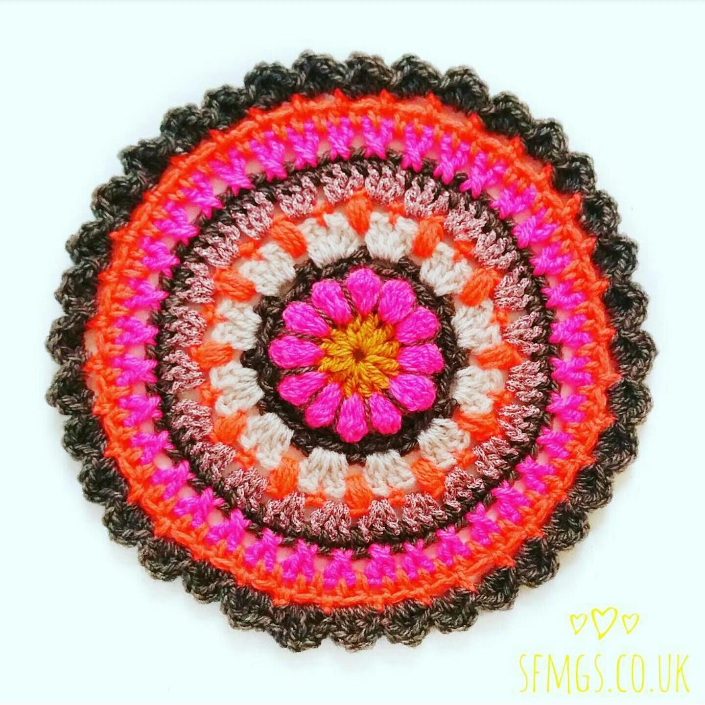 free flower crochet mandala pattern