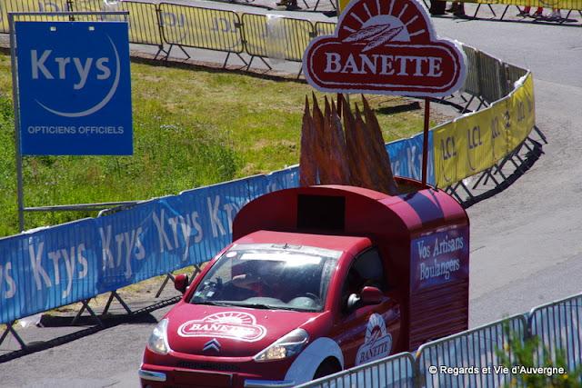 Tour de France 2016 au Lioran, Auvergne caravane publicitaire