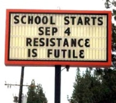 Back to School Sign  | shared with permission on www.BakingInATornado.com | #humor