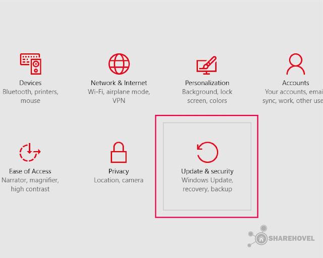 Setting Update & Security - Cara Mematikan Windows Auto Update di Windows 10 - by sharehovel