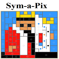 Online Sym-a-Pix or Galaxy Puzzle