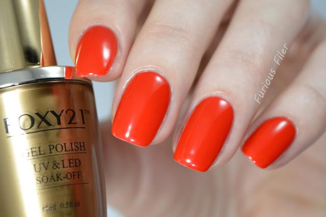 foxy21 1343 gel polish soak off red review