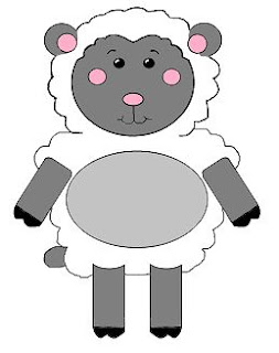 Paper crafts for kids little lamb for Lamb cut out template