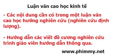 luan van cao hoc, viet luan van cao hoc, huong dan viet de cuong luan van cao hoc