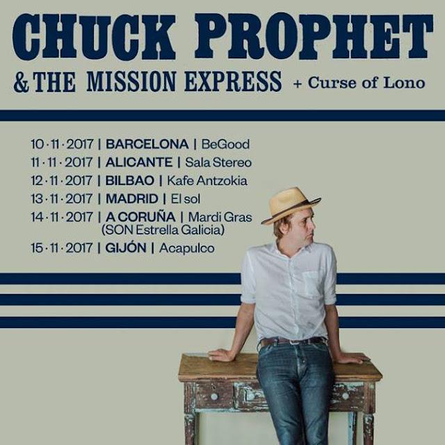 Chuck Prophet - Gira española durante el mes de noviembre