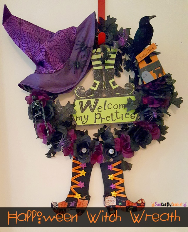 Halloween Witch Wreath - Sew Crafty Crochet