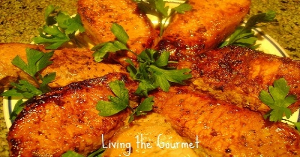 Honey & Mustard Marinated Pork Chops Recipe