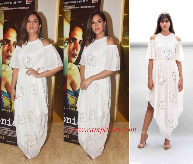 Richa Chadha wearing Urvashi Joneja & Eurumme