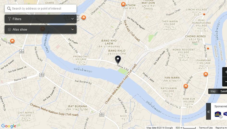 Bhumibol Bridge Bangkok Map Tourist Attractions in Bangkok – Maps Of Bangkok For Tourists