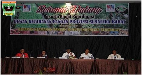 Gubernur Irwan Prayitno,Untuk Menyipi Ketahanan Pangan Harus Ada Payunghukun Berbentuk Perda