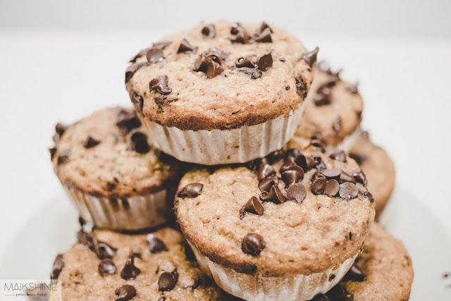 muffins choco platano