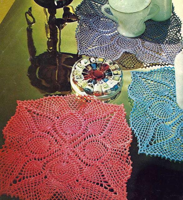 Patrón 1034 Juego de Tapetes a Crochet