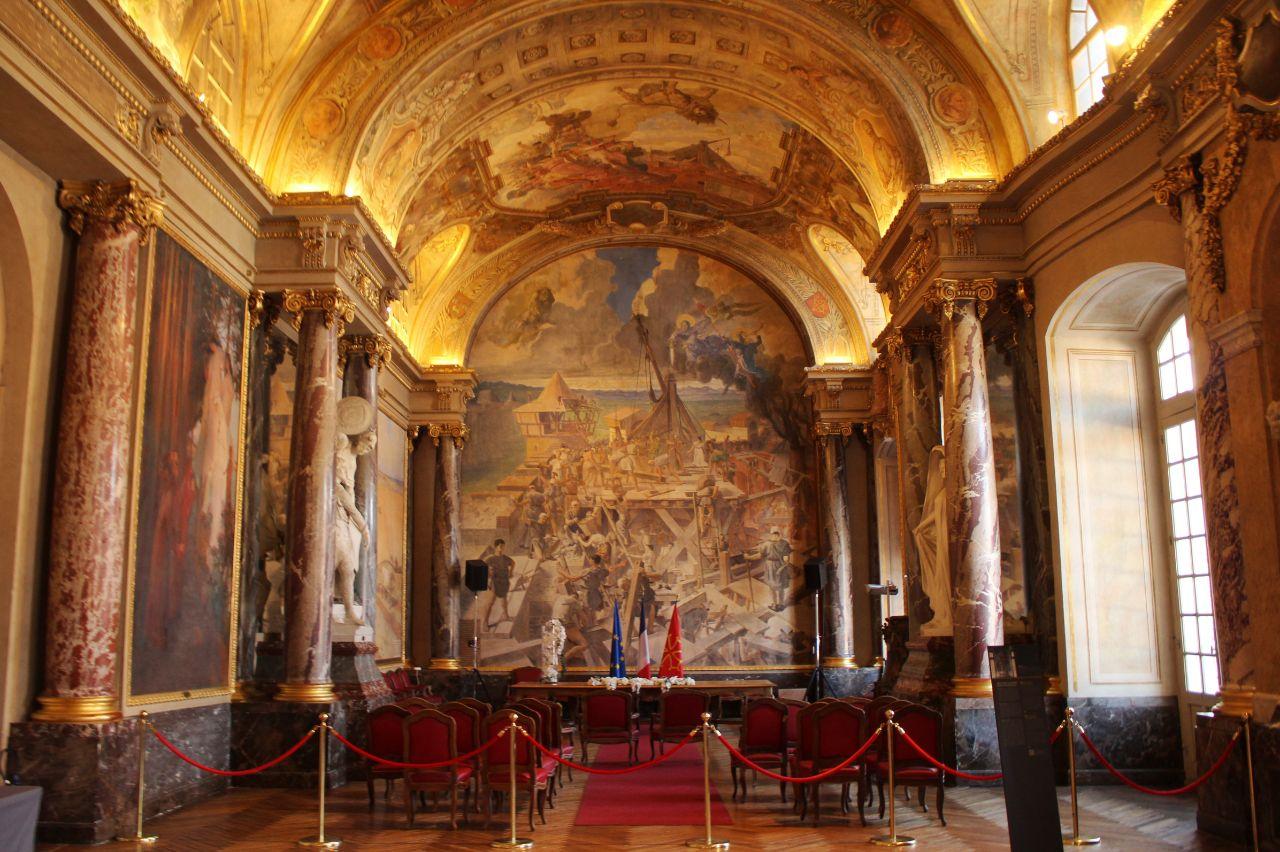 Espaço de casamentos na Sala dos Ilustres, no Capitólio de Toulouse.