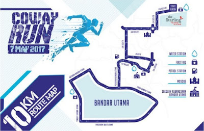 Coway run 10 km route map