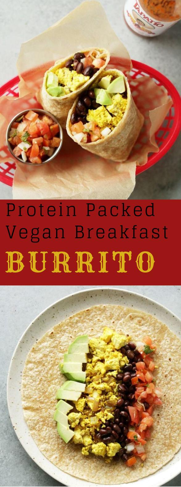 PROTEIN PACKED VEGAN BREAKFAST BURRITO #vegan #burrito