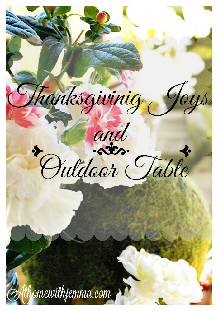 Moss balls-white-carnations-bouquet-table-Thanksgiving