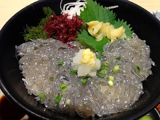 nama shirasu don ; fresh whitebait bowl