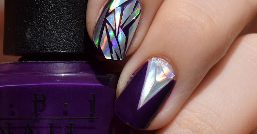 Holographic Shattered Glass Nail Art  -- BeautyBigBang Review --