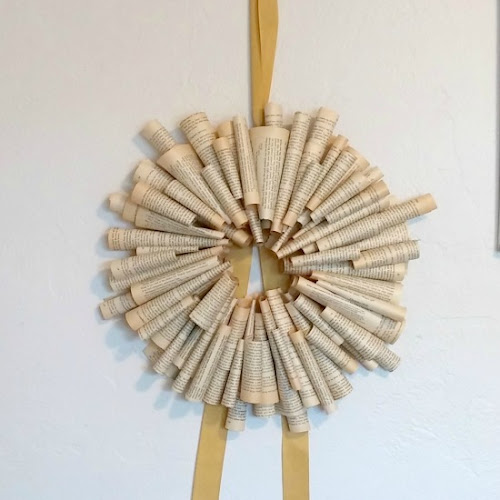 Pottery Barn Knockoff Book Page Wreath