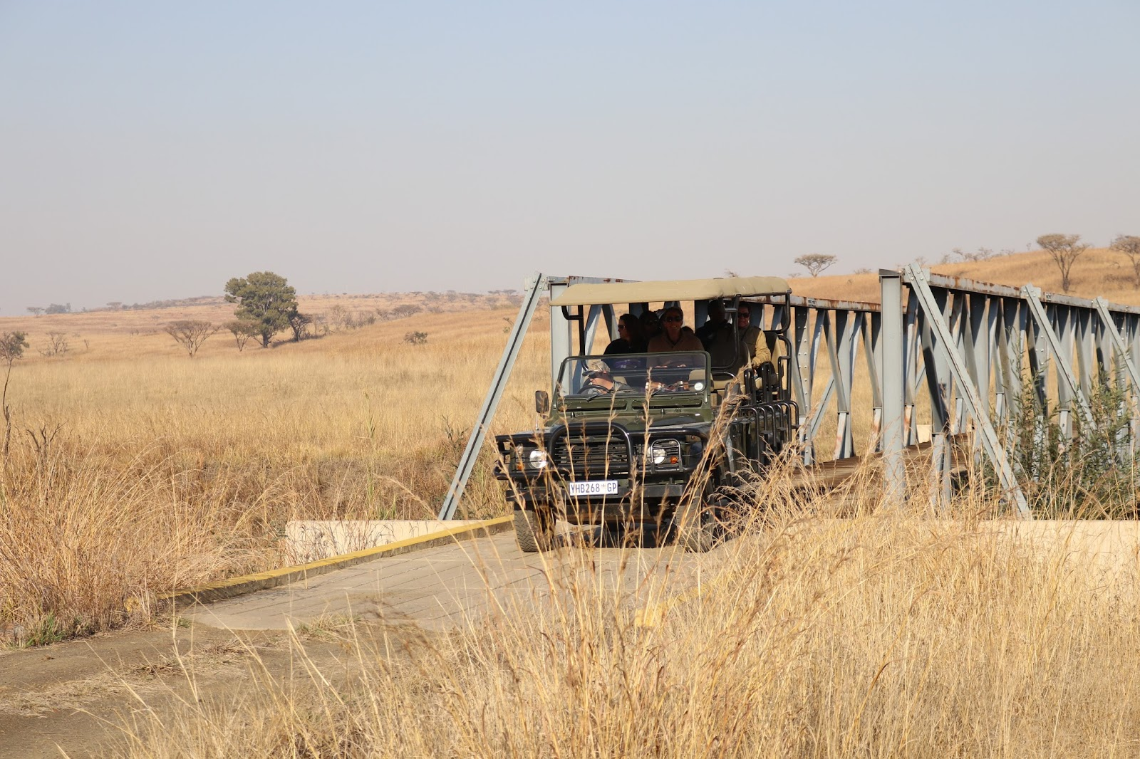 Jeep in the Nambiti Game Reserve, South Africa