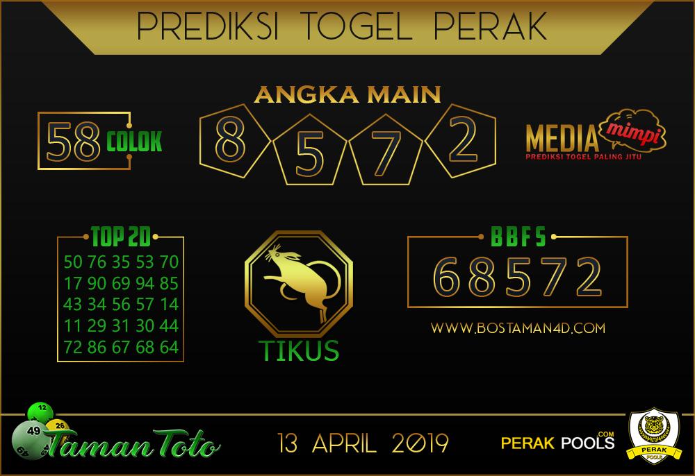 Prediksi Togel PERAK TAMAN TOTO 13 APRIL 2019