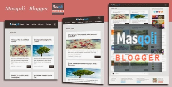 Masqoli Responsive Modern Blogger Template