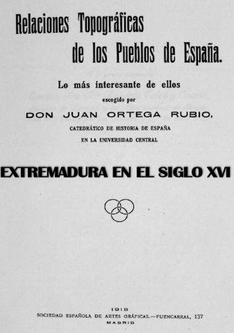 RELACIONES TOPOGRÁFICAS DE LOS PUEBLOS DE ESPAÑA.