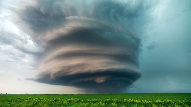 Supercells are often isolated from other thunderstorms, and often form violent hailstorms