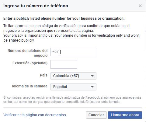 como puedo verificar mi pagina de FB con insignia