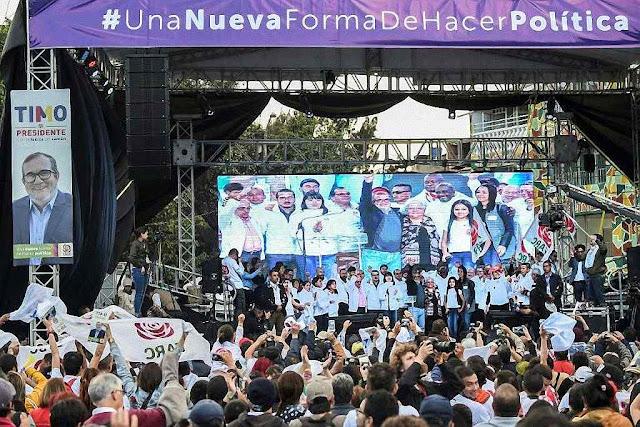 Demagogia não adiantou e Timochenko desistiu gravemente doente. FARC só ganhou cadeiras cativas muito 'democráticas'.