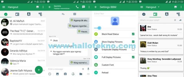 Kumpulan BBM Mod Hangout Versi 2.12.0.9 + Dual BBM