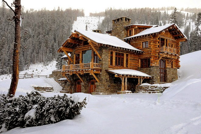 Dreamhouse ski lodge style for Ski lodge style homes