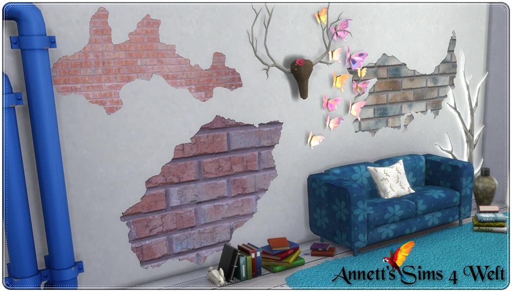 My Sims 4 Blog: Broken Wall Decor by Annett
