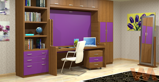 Dise os de muebles escondidos escritorio dormitorio for Cama escondida en mueble