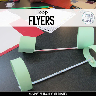 STEM! Experiment with different paper, straws, and sizes and then design the perfect hoop flyer! Kids love this one!